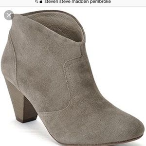 Size 8 Steven by Steve Madden taupe booties